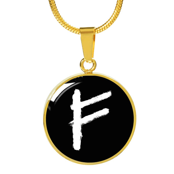Fehu Rune Luxury Necklace - The Moonlight Shop