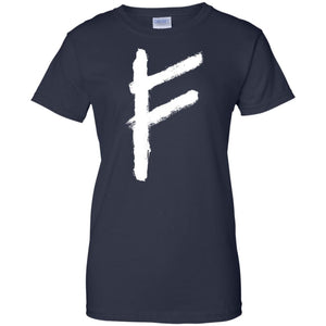 Fehu Rune Shirt - The Moonlight Shop