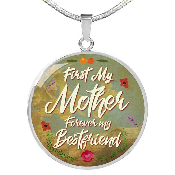 First My Mother Forever My Best Friend Luxury Necklace - The Moonlight Shop