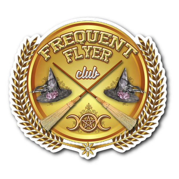 Frequent Flyer Club Sticker - The Moonlight Shop