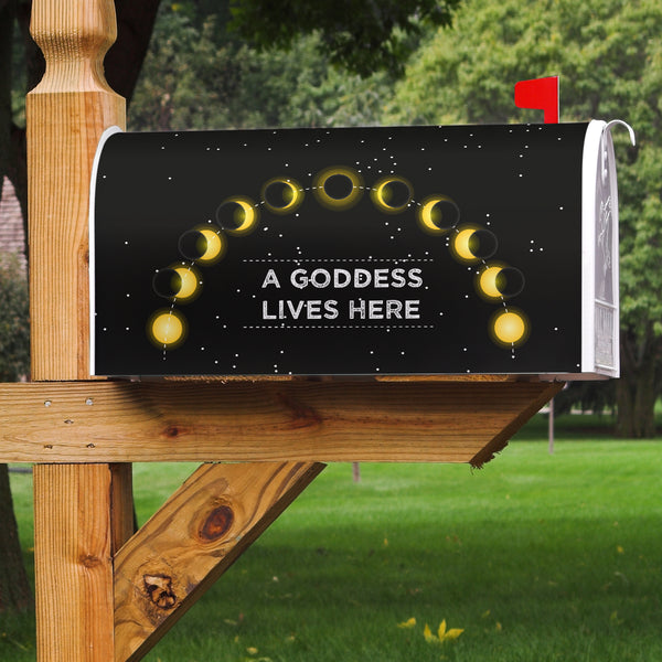 A Goddess Lives Here Mailbox Cover