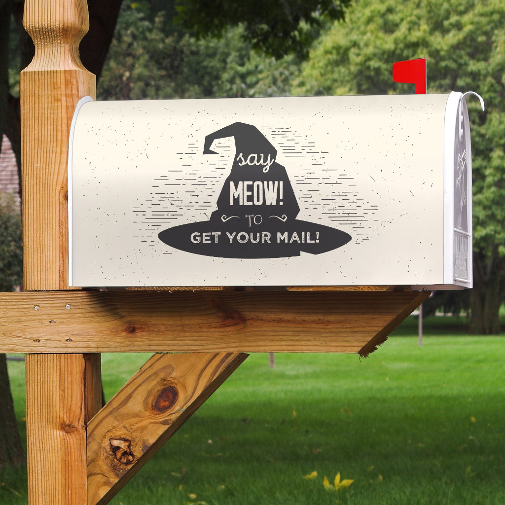 Say Meow Mailbox Cover