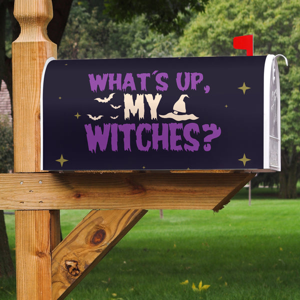 What's Up My Witches Mailbox Cover