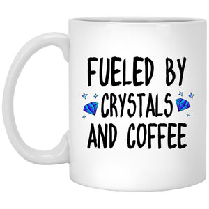 Fueled By Crystals And Coffee Mug - The Moonlight Shop