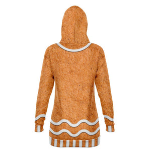 Gingerbread Longline Hoodie - The Moonlight Shop