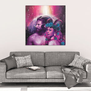 God And Goddess Canvas Wall Art - The Moonlight Shop