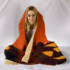 Halloween Pumpkins Plush Lined Hooded Blanket - The Moonlight Shop