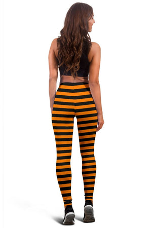 Halloween Striped Leggings - The Moonlight Shop