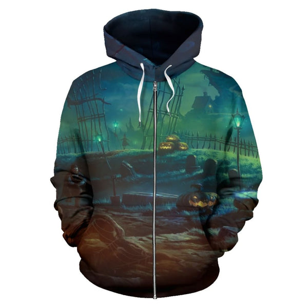 Halloween Zip Hoodie - The Moonlight Shop
