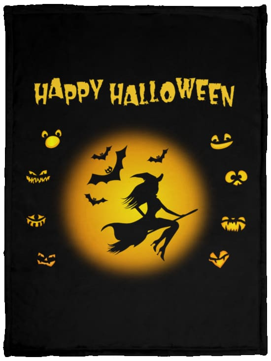 Happy Halloween Fleece Blanket - The Moonlight Shop