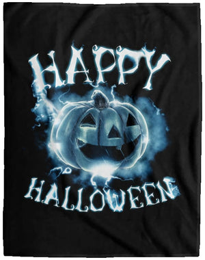 Happy Halloween Ghost Fleece Blanket - The Moonlight Shop