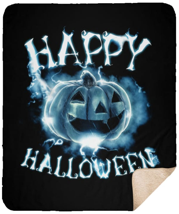 Happy Halloween Ghost Premium Sherpa Blanket - The Moonlight Shop