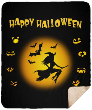 Happy Halloween Premium Sherpa Blanket - The Moonlight Shop