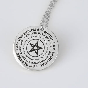 I Am A Witch Laser Engraved Necklace - The Moonlight Shop