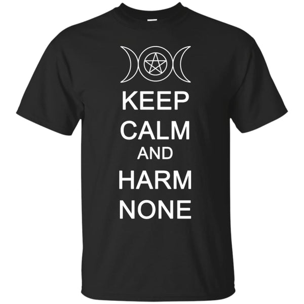 Keep Calm And Harm None Shirt - The Moonlight Shop