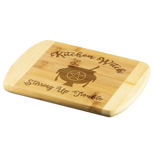 Kitchen Witch Wood Cutting Board - The Moonlight Shop