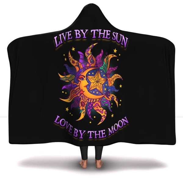 Live By The Sun Hooded Blanket (limited run) - The Moonlight Shop