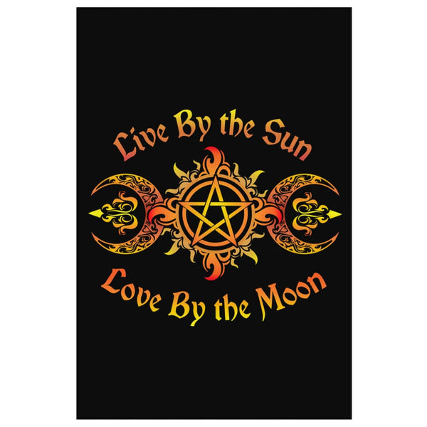 Live By The Sun Love By The Moon Canvas Wall Art - The Moonlight Shop