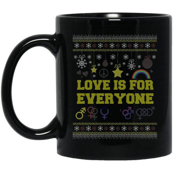 Love Is For Everyone - Ugly Christmas Mug - The Moonlight Shop