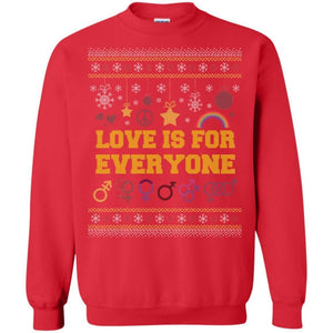 Love Is For Everyone - Ugly Christmas Sweatshirt - The Moonlight Shop