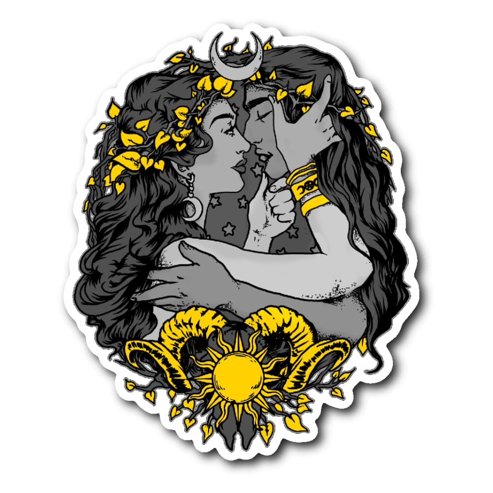 Love Of The Sun And Moon Sticker