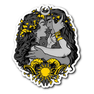 Love Of The Sun And Moon Sticker - The Moonlight Shop
