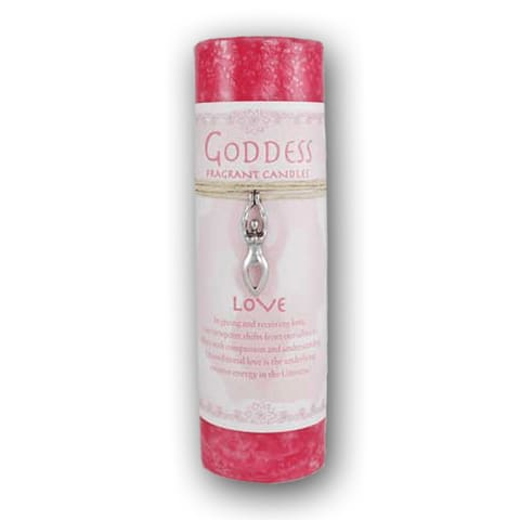 Love Pillar Candle With Goddess Necklace - The Moonlight Shop