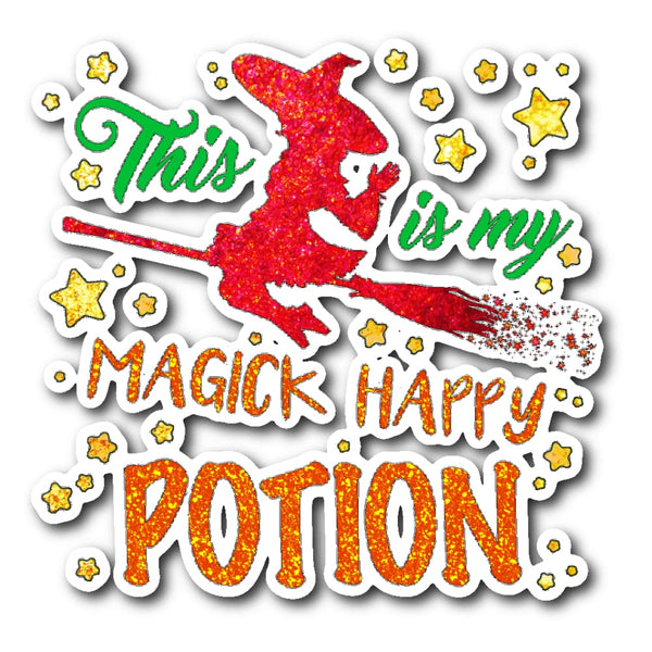 Magick Happy Potion Sticker - The Moonlight Shop