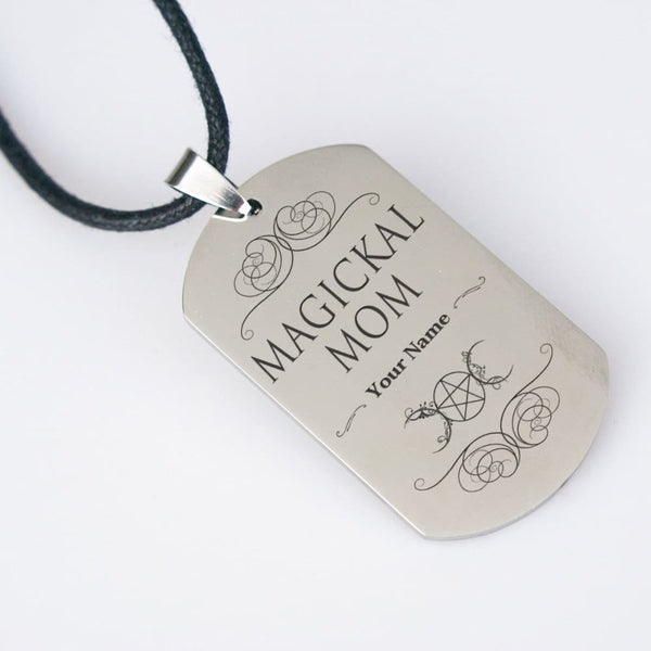 Magickal Mom Customizable Dog Tag - The Moonlight Shop