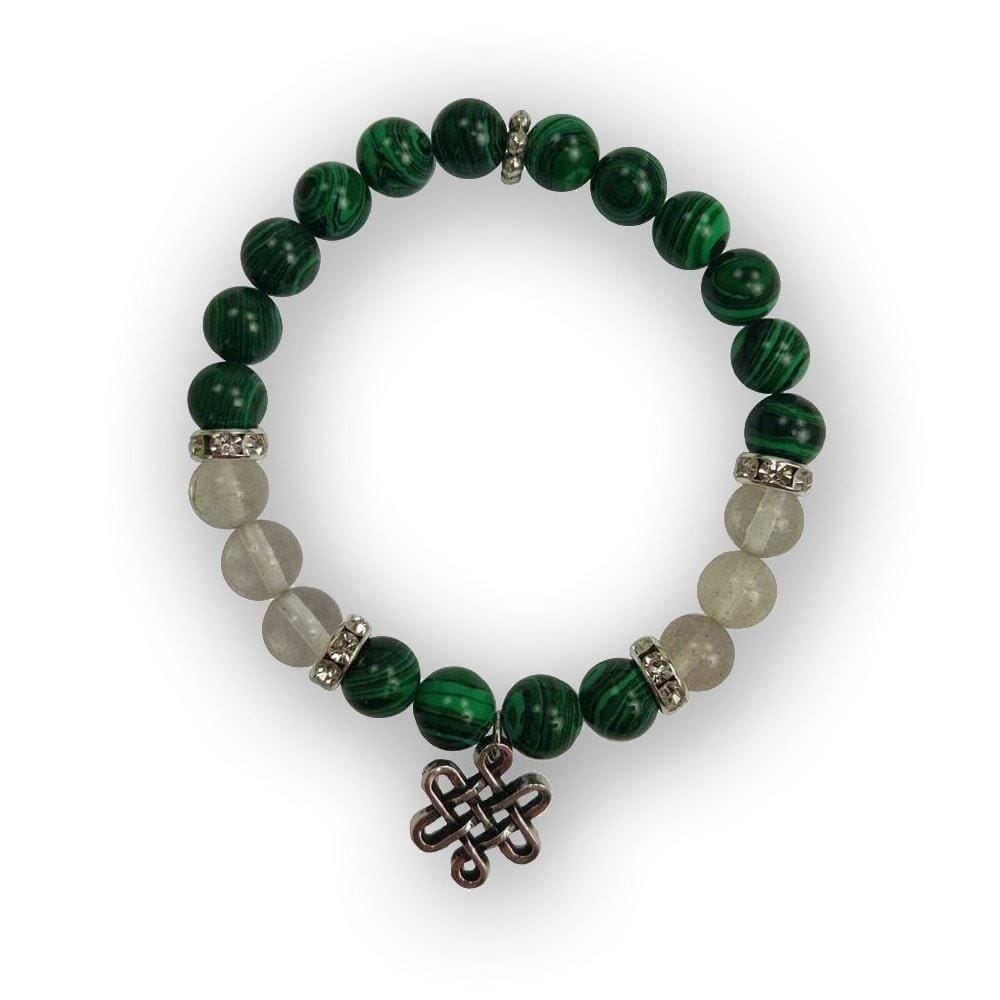 Malachite And Quartz Bracelet Of Protection And Manifestation - The Moonlight Shop