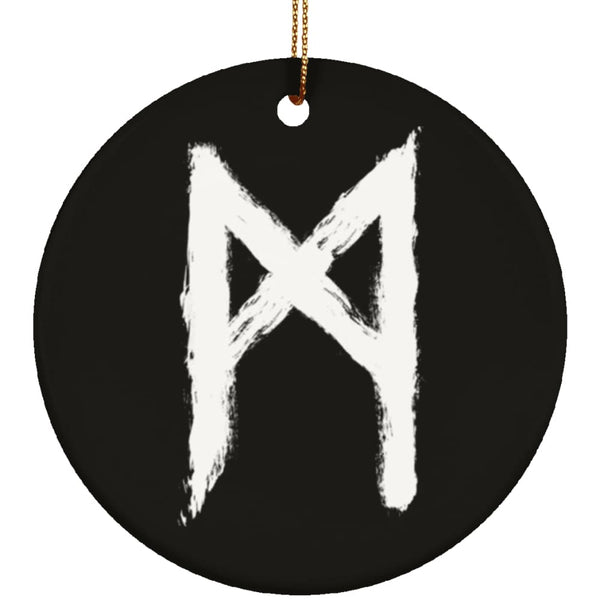 Mannaz Rune Ornament - The Moonlight Shop