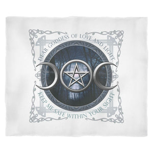 Moon Goddess Of Love And Light Fleece Blanket - The Moonlight Shop