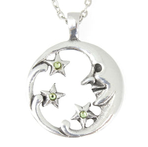 Moon Goddess With Stars Necklace - The Moonlight Shop
