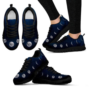 Moon Phases Womens Sneakers - The Moonlight Shop