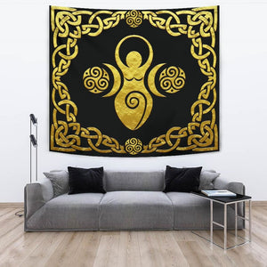Mother Goddess Triple Spiral Tapestry - The Moonlight Shop