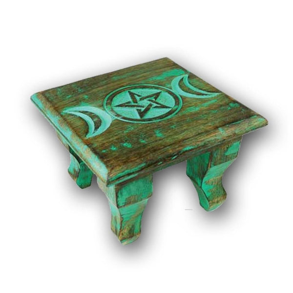 Nature Green Triple Moon Altar Table - The Moonlight Shop