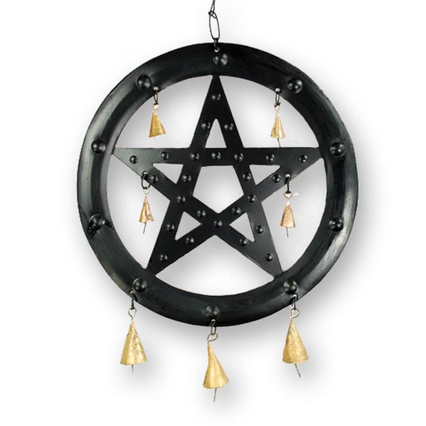 Negativity-Blocking Pentacle Wind Chime - The Moonlight Shop