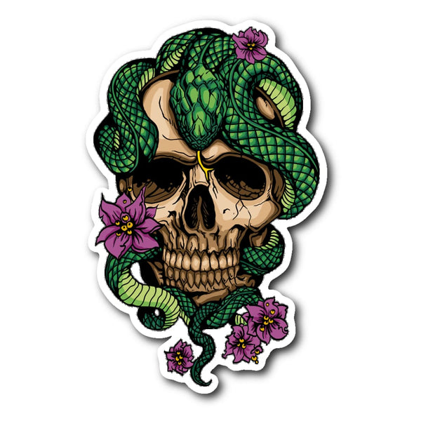 New Beginnings Skull Sticker - The Moonlight Shop