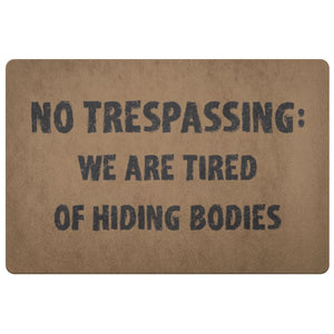 No Trespassing Doormat - The Moonlight Shop