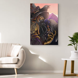 Odin Canvas Wall Art - The Moonlight Shop