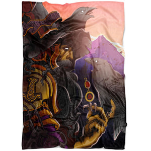 Odin Fleece Blanket - The Moonlight Shop