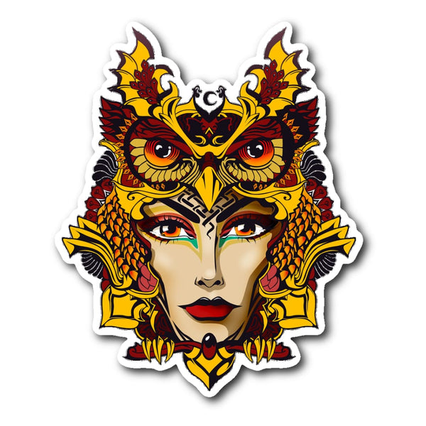 Owl Woman Sticker - The Moonlight Shop