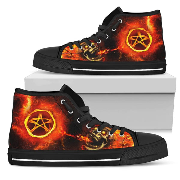 Passion For Wicca Womens High Top Shoes - The Moonlight Shop