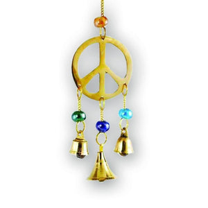 Peace Sign Wind Chime - The Moonlight Shop