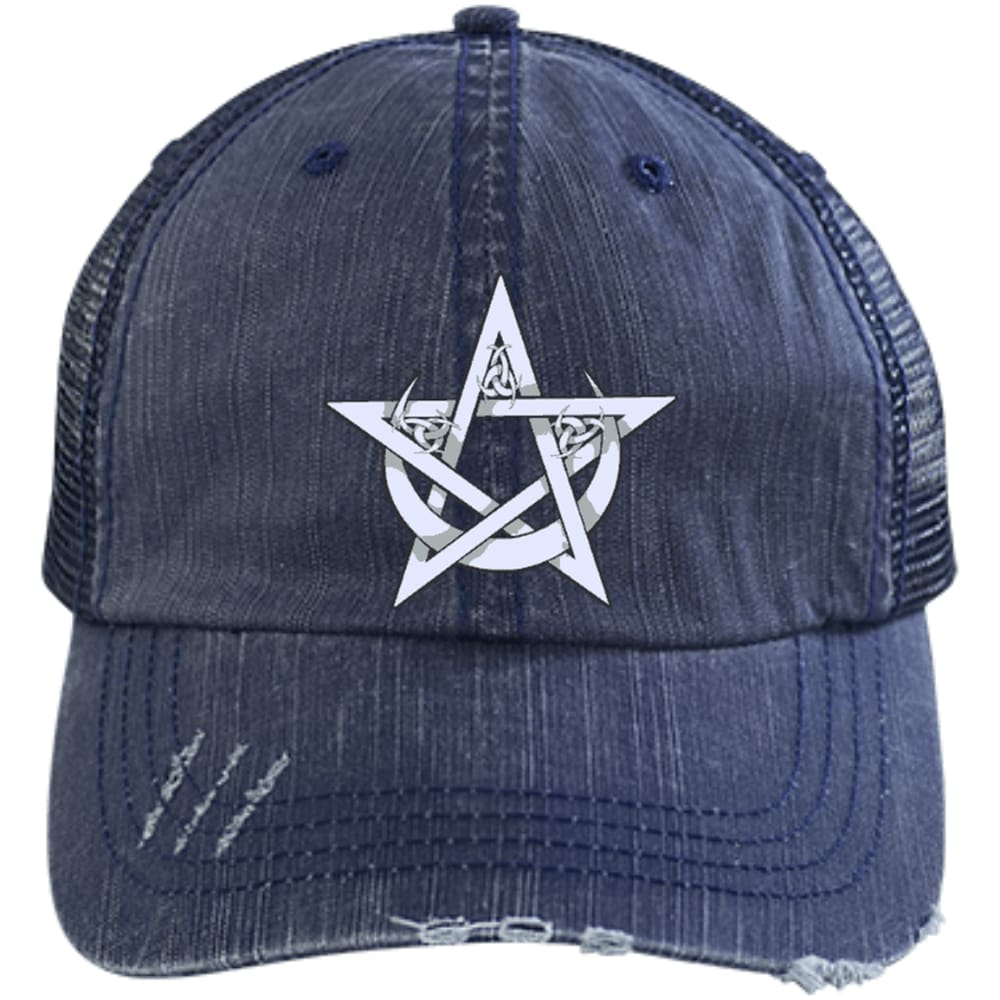 Pentacle and Crescent Moon Cap