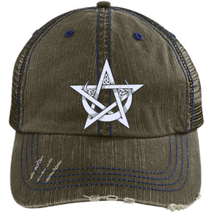 Pentacle And Crescent Moon Cap - The Moonlight Shop