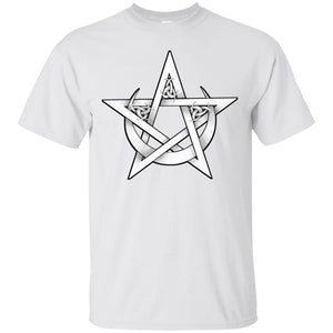 Pentacle And Crescent Moon Shirt - The Moonlight Shop