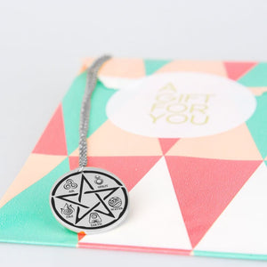 Pentacle And The Elements Stainless Steel - The Moonlight Shop
