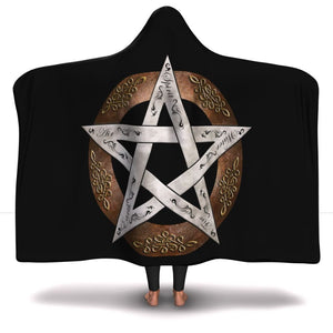 Pentacle Of Protection Hooded Blanket - The Moonlight Shop