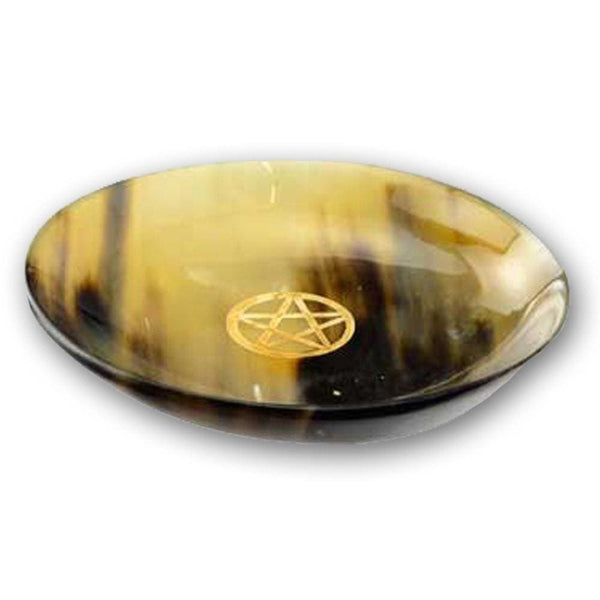 Polished Horn Pentacle Smudging Bowl - The Moonlight Shop